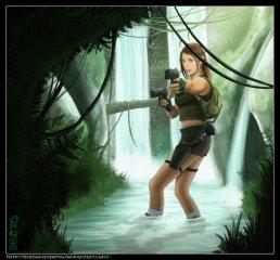 Lara Croft de Tomb Raider - Fanart