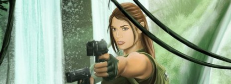 Lara Croft en action - Fanart