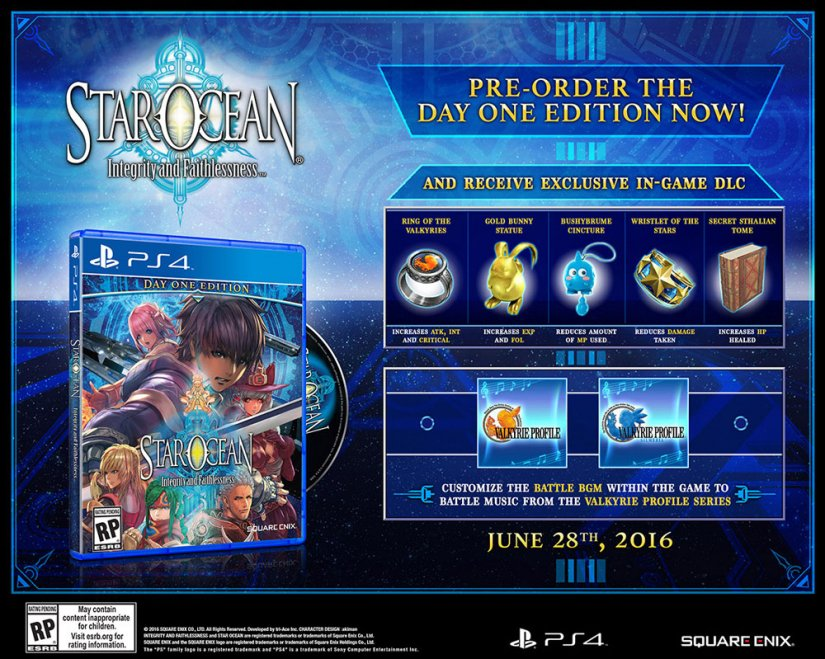 Star Ocean 5 : Date de sortie US et édition collector