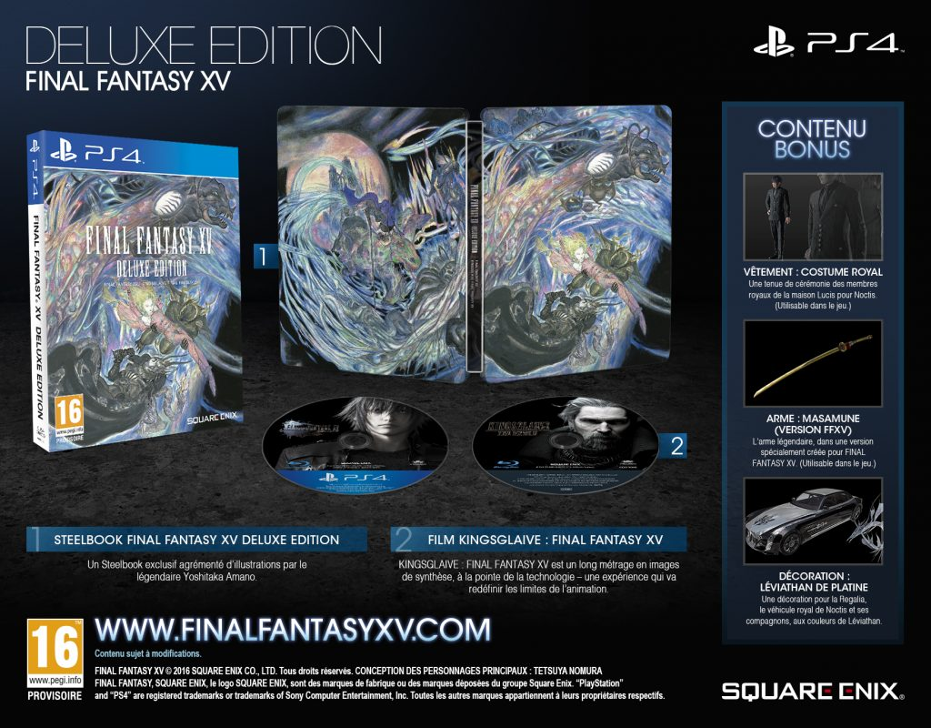 Edition Deluxe - Final Fantasy XV