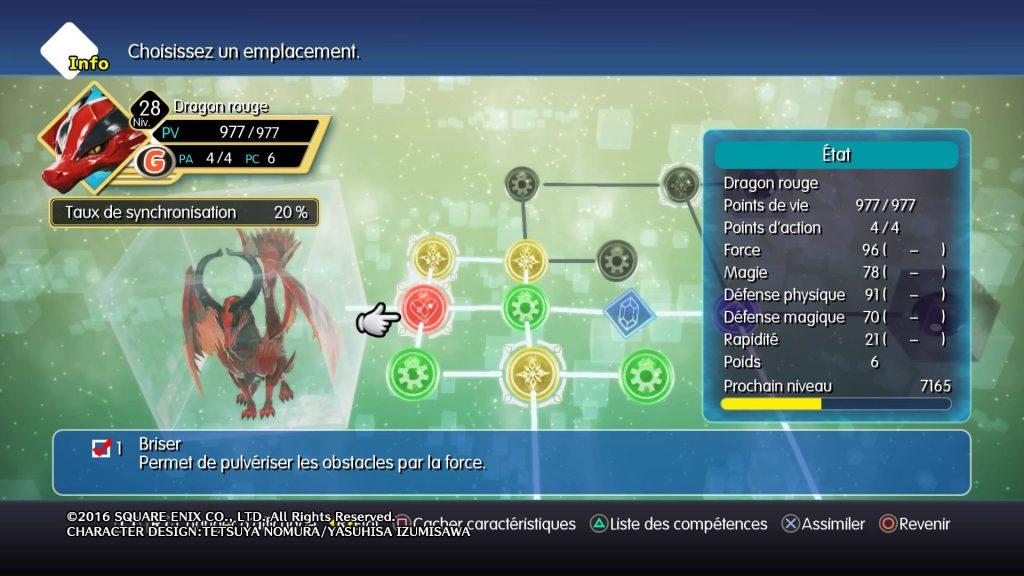 World Of Final Fantasy - Dragon Rouge : compétence Briser