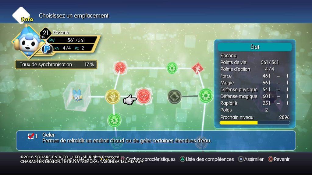 World of Final Fantasy : Flocona - Competence geler