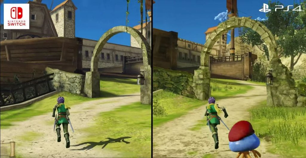 Comparatif / Difference PS4 vs Switch DQ Heroes 2