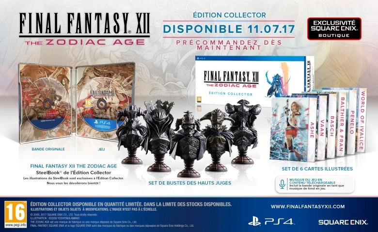 Edition collector de ff12 the zodiac age