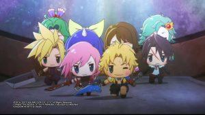 World of Final Fantasy - Squall, Tidus, Cloud, Lightning